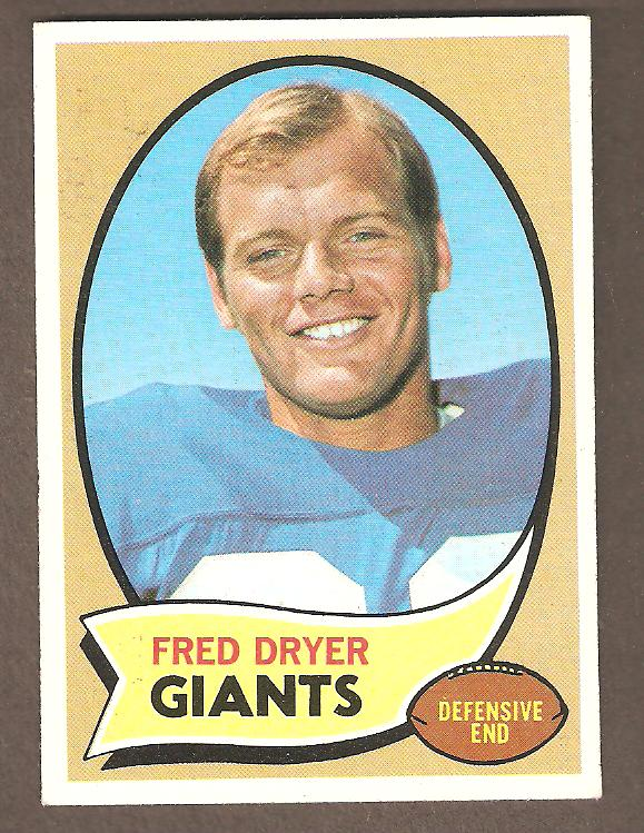 1970 Topps Fred Dryer