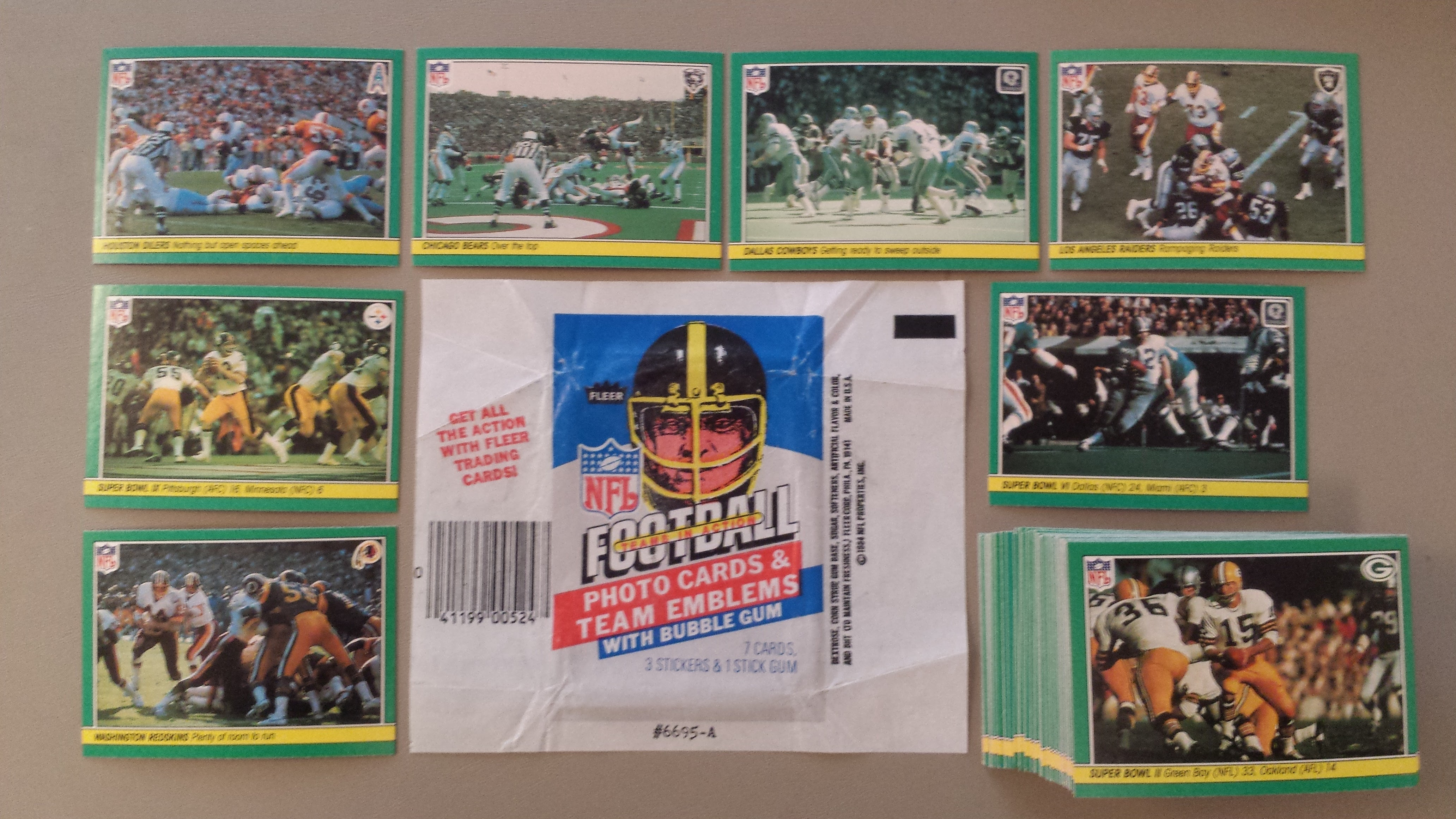 1984 Fleer Team Action Football